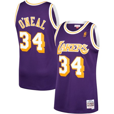 sports shoes 3b054 fc5bb Shaquille O'Neal Los Angeles Lakers Mitchell & Ness 1996-97 ...