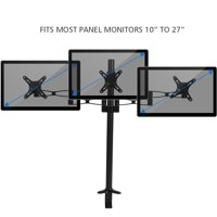 Triple Monitors Desk Mount Stand Mount 360 Rotation Fits 3 Screens 10  to 27  Aluminium Alloy, 3 Monitor Stand, Triple Monitors Desk Mount Stand Mount