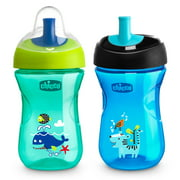 Chicco First Straw Trainer Sippy Cup, Teal/Blue, 9oz 9m+ (2pk)