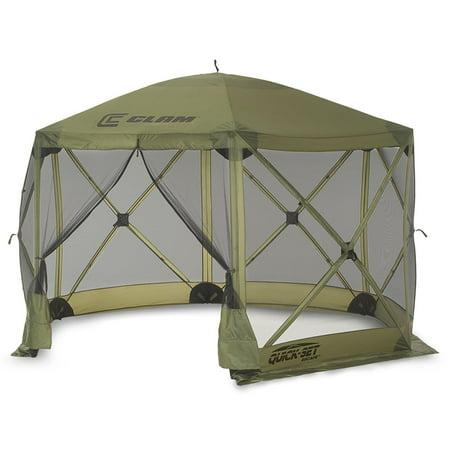 - Clam Quick Set Escape Portable Camping Outdoor Gazebo Canopy Shelter Screen
