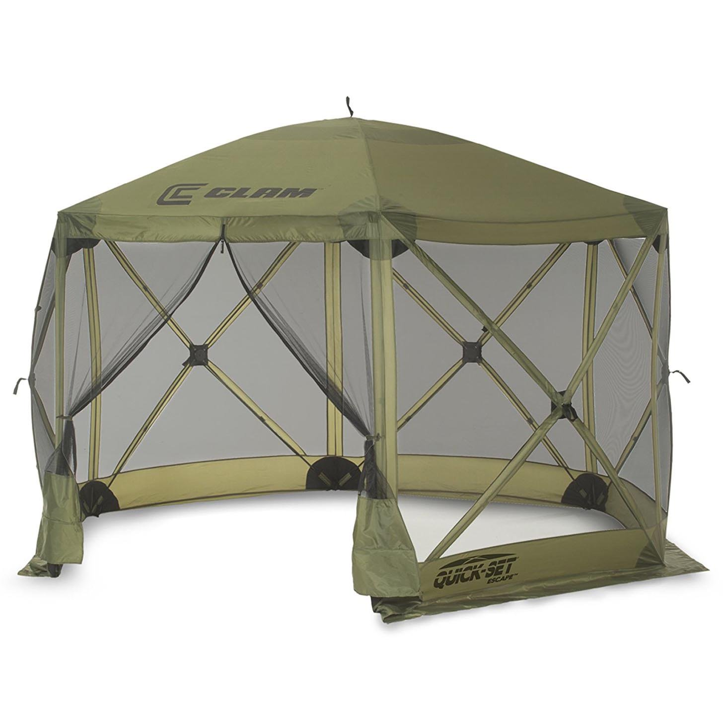 Clam Quick Set Escape Portable Camping Outdoor Gazebo Canopy Shelter Screen