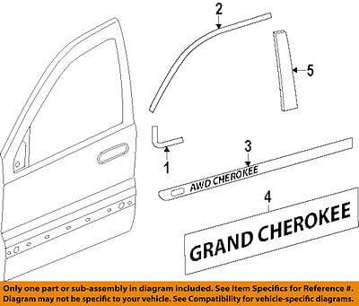 Jeep CHRYSLER OEM Grand Cherokee Front Door-Emblem Badge Nameplate 68110321AC