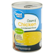 (6 pack) Great Value Cream of Chicken Condensed Soup, 10.5 oz