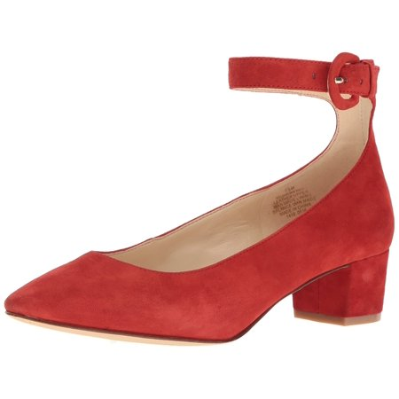 Nine West Toe Womens brianyah Fabric Closed Toe West Ankle Strap Classic Red Size 6.5 U 684fb7