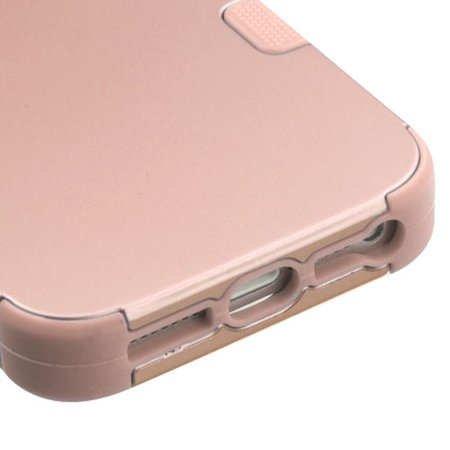 Insten Tuff Hard Dual Layer Rubber Silicone Case For Apple iPhone SE / 5 / 5S - Rose Gold - image 5 of 6