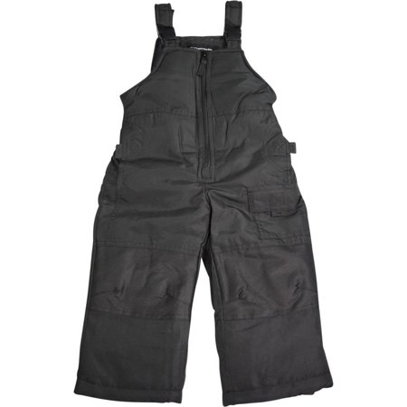 Weathertamer Toddler & Boys Adjustable Shoulder Strap Bib Pant Snowpants, 40023 Black / 2T