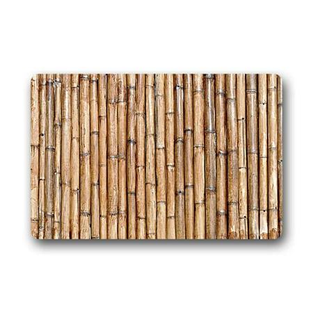 CADecor Bamboo Doormat Indoor Outdoor Floor Rug 30x18 inches