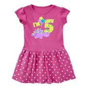 Happy Dinosaur Fifth Birthday-purple Toddler Dress