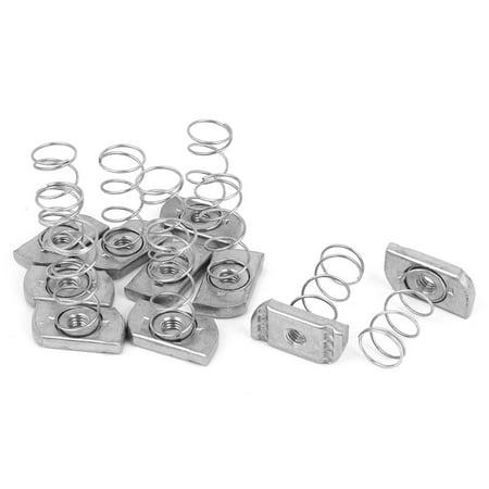 - Unique Bargains 10 Pcs M8 x 6mm Unistrut Type Zinc Plated Long Spring Channel Nuts