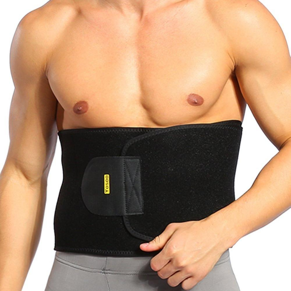 Yosoo Men Hot Body Shaper Weight Loss Slimming Waist Trainer Trimmer Slim Belt Wrap,Waist Trimmer Belt