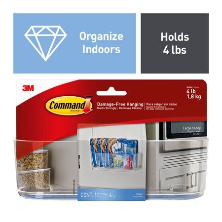 Command Caddy, Clear, Large, 1 Caddy/Pack