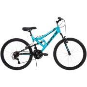 """Huffy 24"""" Trail Runner Girls' Full Suspension Mountain Bike"""