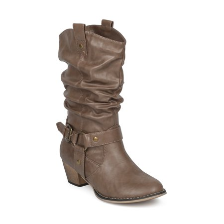 Women Leatherette Slouchy O-Ring Western Cowboy Riding Boot BI36 for $<!---->