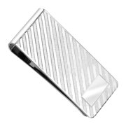 Dolan Bullock Men's Diagonal Stripe Money Clip in Sterling Silver