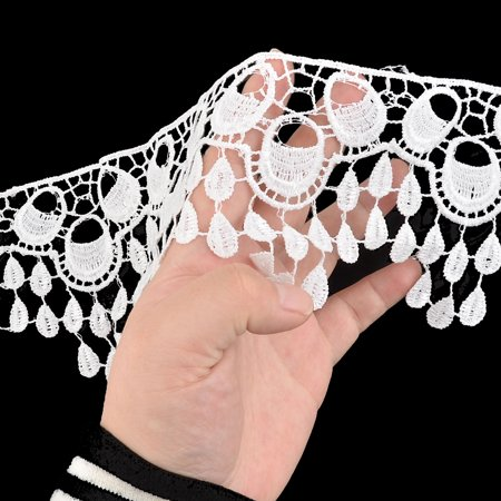 Polyester Tassel Decor Sweater Ornament Lace Trim Applique 3.7 Inches Width - image 1 de 3