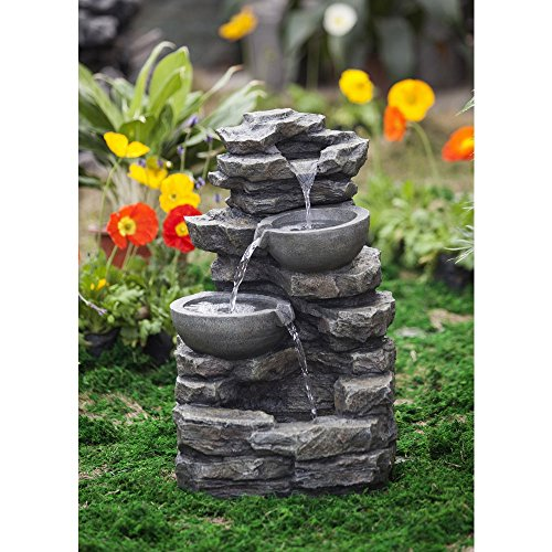 Jeco Rock and Pot Waterfall Water Fountain