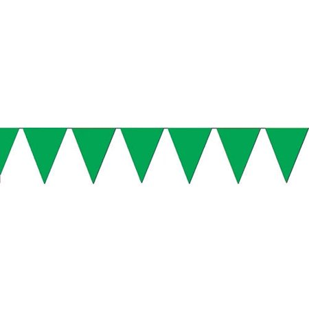 100 Ft Green Pennant Banner Flags Party Event