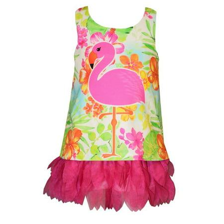 Bonnie Jean Baby Girls Tropical Flamingo Dress 24 months