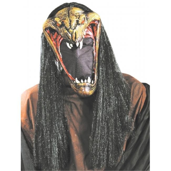 Halloween Adult Viper Mask with Net Face - Walmart.com - Walmart.com