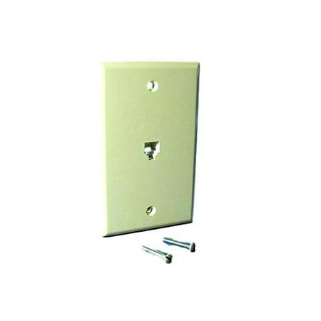 New Leviton Ivory Flush Mount Telephone Jack Wallplate 6P4C Type 625B4 40949-I