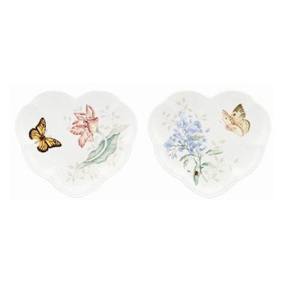 Lenox Butterfly Meadow Heart Party Plates, Set of 2
