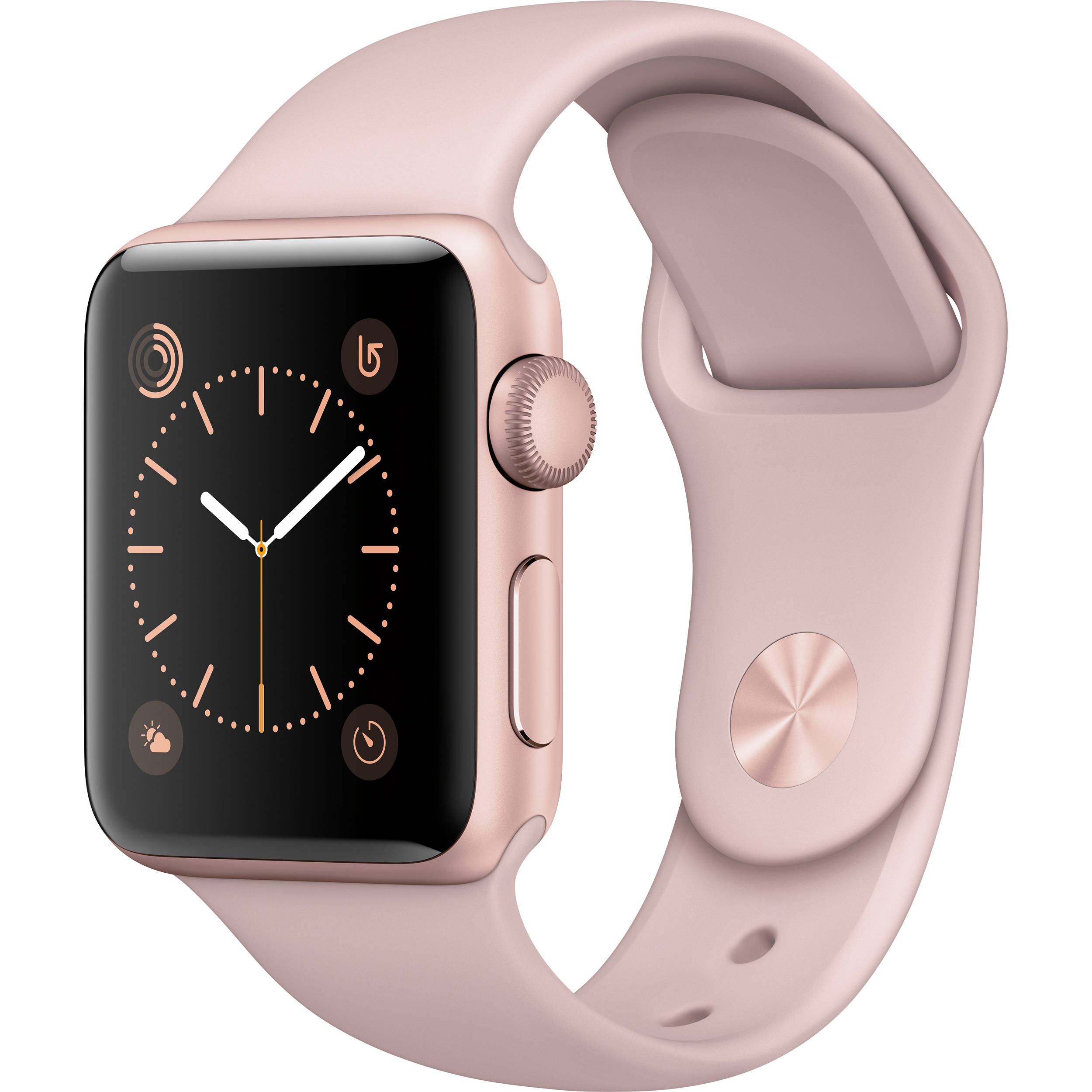 Apple watch series 2 38mm ALUMINUM SPORT BAND (Rose Gold Aluminum Case with Pink Sand Sport Band) by