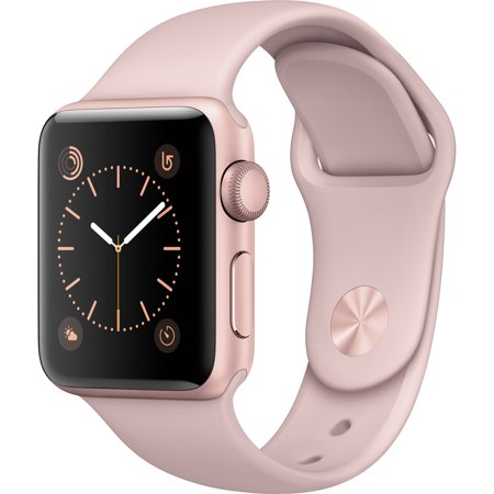 Apple Watch Series 2 38Mm Aluminum Sport Band  Rose Gold Aluminum Case With Pink Sand Sport Band