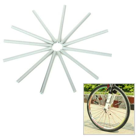 12Pcs Bike Wheel Spoke ABS Safety Reflective Tube Reflector Warning ...