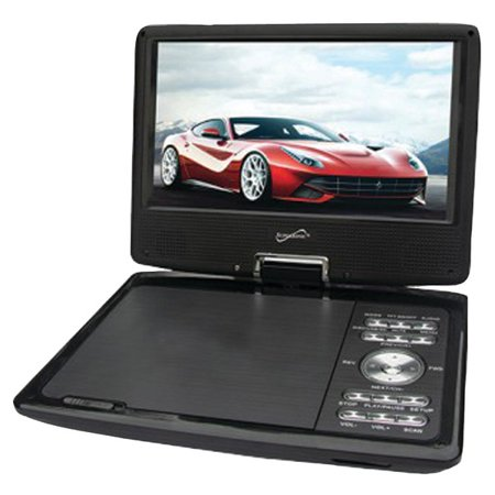 Supersonic SC-259A 9″ Portable DVD Player with Digital TV & Swivel Display