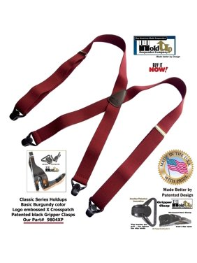 f45402b7dc1 Product Image HoldUp s Classic Dark Burgundy Suspenders With Black Gripper  Clasps in X-back Style. Holdup Suspender Company Inc.