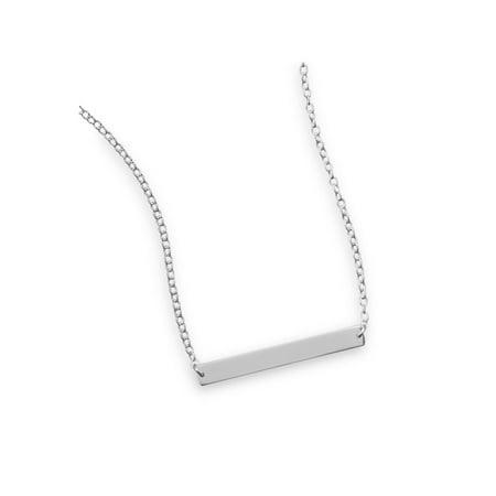 Bar Necklace Sterling Silver - Adjustable Length