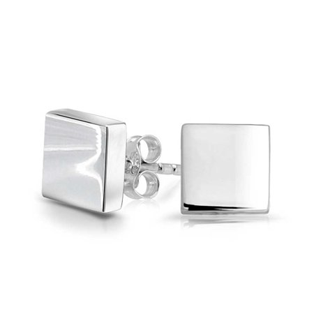 36c1a33ad Bling Jewelry Unisex Classic Polished Square Stud earrings 925 Sterling  Silver 13mm - Walmart.com