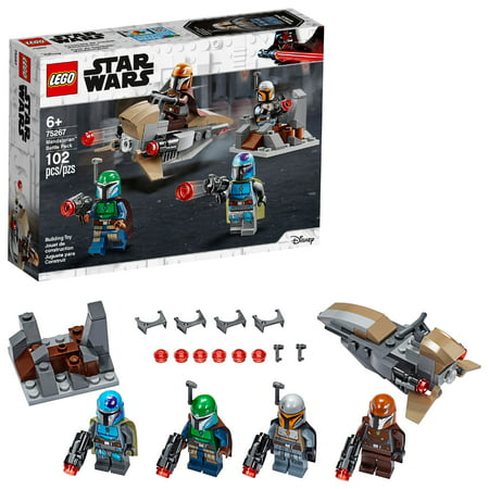 LEGO Star Wars Mandalorian Battle Pack 75267 Shock Troopers and Speeder Bike Building Kit (102