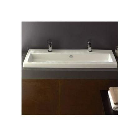 Ceramica Tecla by Nameeks Series 40 Ceramic Rectangular Drop-In Bathroom Sink