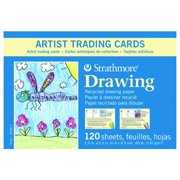 STRATHMORE / PACON PAPERS 27108 100 SERIES ARTIST TRADING CARDS RECYCLED DRAWING 120 PACK