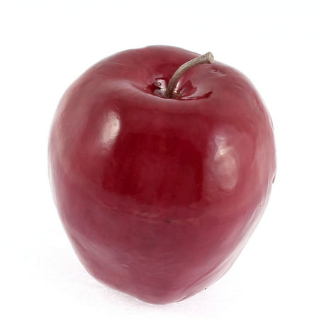 Unique Bargains Artificial Fruit Apples Red Delicious Apple 78mm