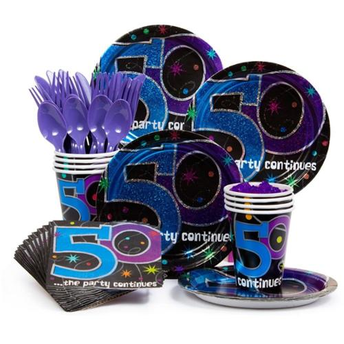 The Party Continues... 50Th Birthday Standard Kit - Party Supplies