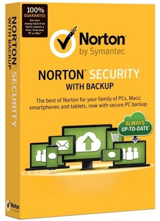 Symantec 21332674 NORTON SECURITY WITH BACKUP 2.0 25GB EN 1 USER 10 DEVICES CARD MM by Symantec