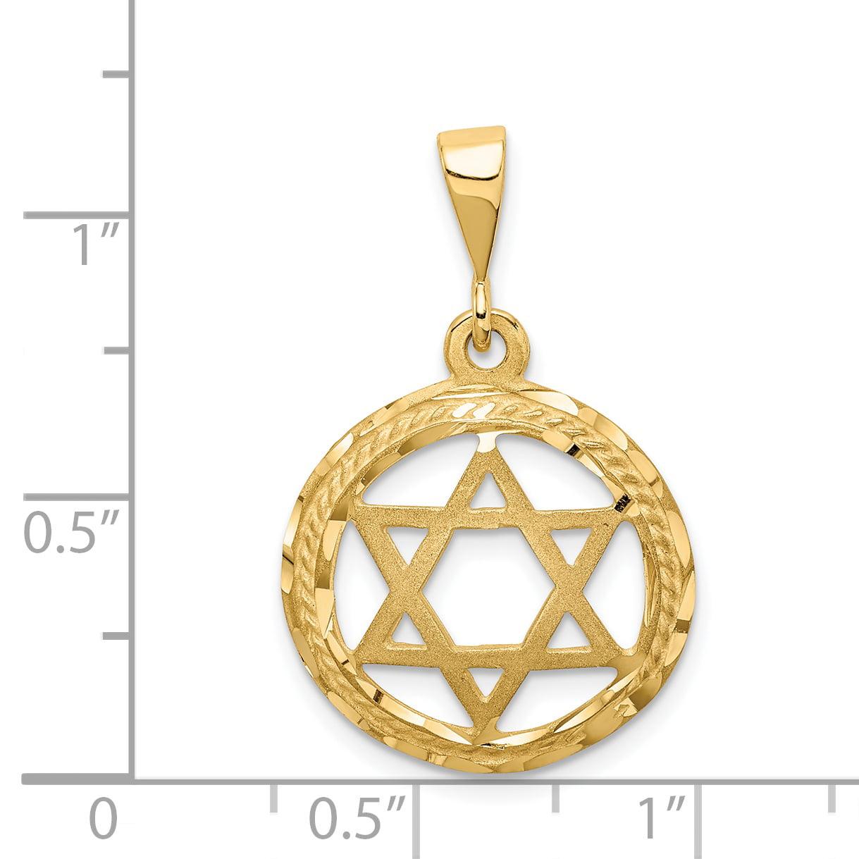 14K Yellow Gold Star Of David Charm - image 1 de 2