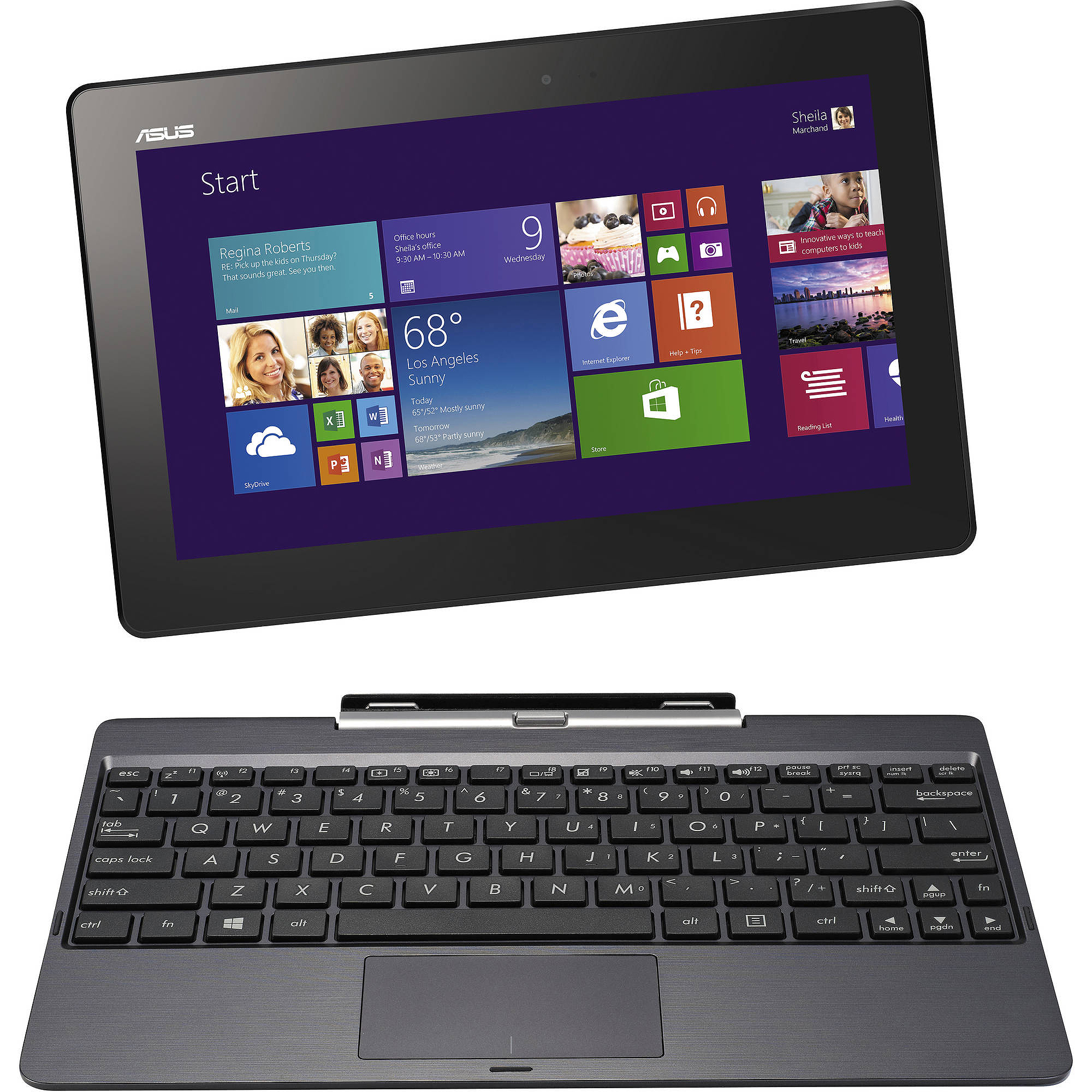 "Asus T100 10.1"" Tablet 64GB Quad Core Refurbished"