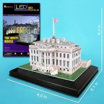White House LED Lighted (Washington DC, USA) 3D Foam Puzzle (56pcs) by
