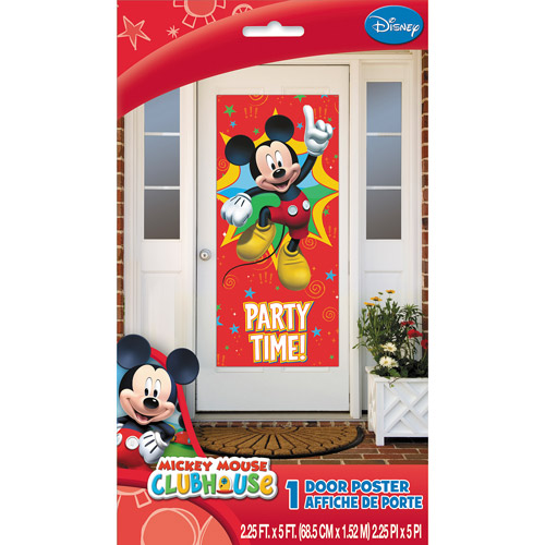 "Plastic Mickey Mouse Clubhouse Door Poster, 60"" x 27"""