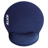 Allsop MousePad Pro Memory Foam Mouse Pad with Wrist Rest, 9 x 10 x 1, Blue -ASP30206
