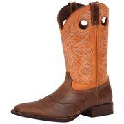 "Durango Western Boot Mens 12"" Saddle Stockman Vintage Nicotine DWDB021"