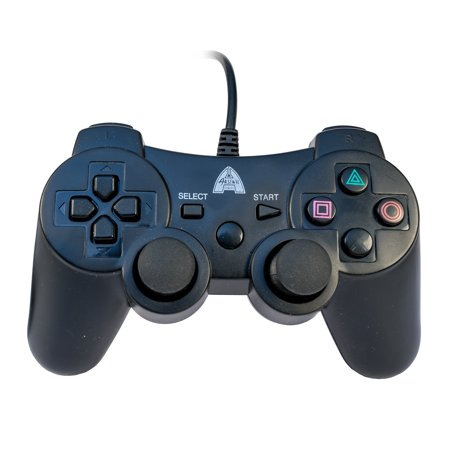 Arsenal Gaming PS3 Wired Controller, Black (Ps3 Controller Rainbow)