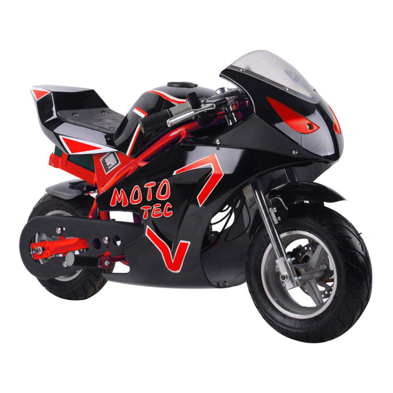 MotoTec 36v 500w Electric Pocket Bike GT Red