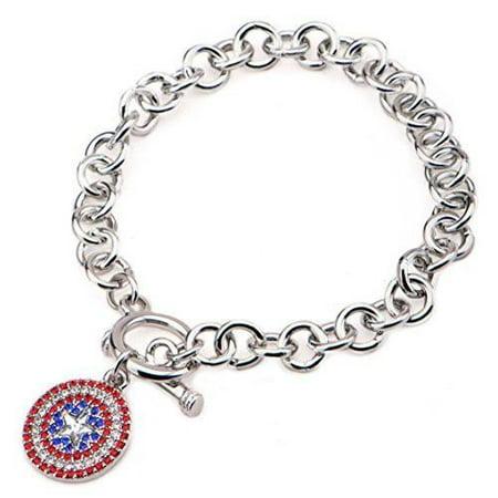 Native American Stainless Steel Bracelet (Marvel Comics Captain America Charm Stainless Steel Bracelet)