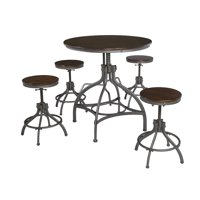Signature Design By Ashley - Odium Dining Room Counter Table Set of 5 - Casual Style - Brown