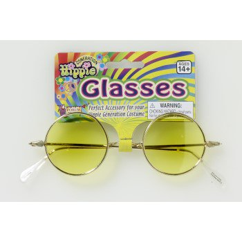 Round Glasses - Yellow Lenses Halloween Costume Accessory](Colored Contact Lens For Halloween)