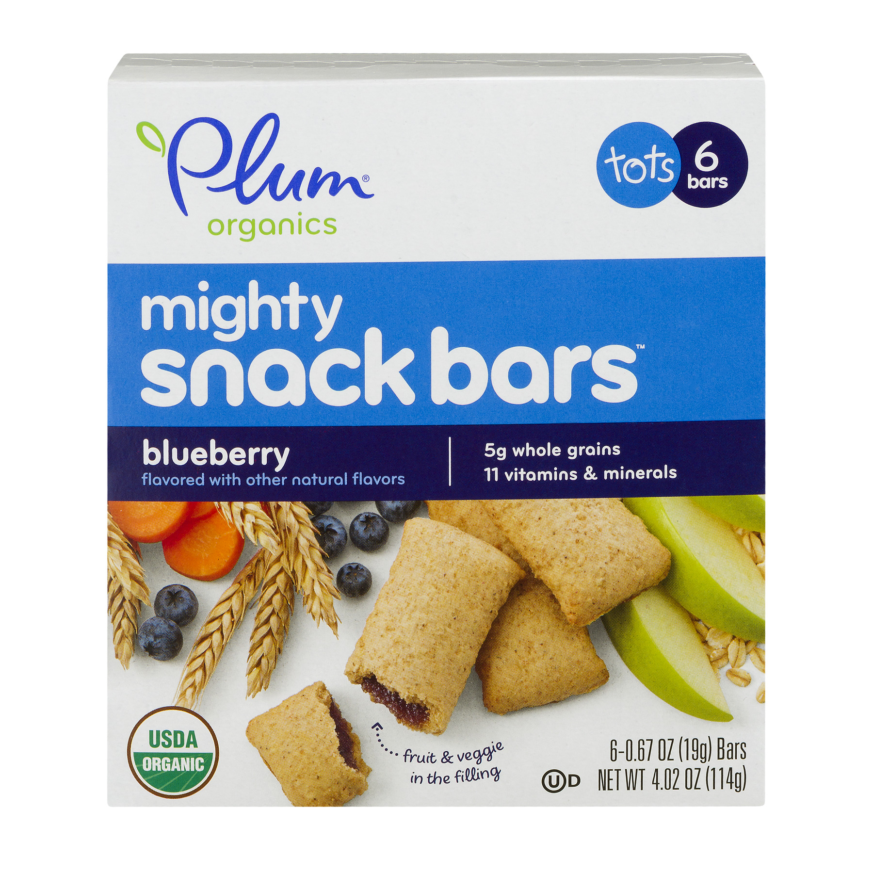 Plum Organics® Mighty Snack Bars Blueberry, 0.67 OZ